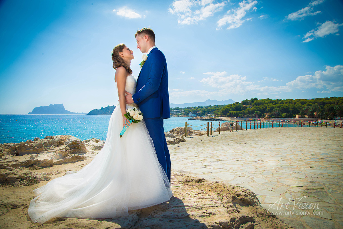 Wedding in Costa Blanca - Moraira. Photographer ArtVision